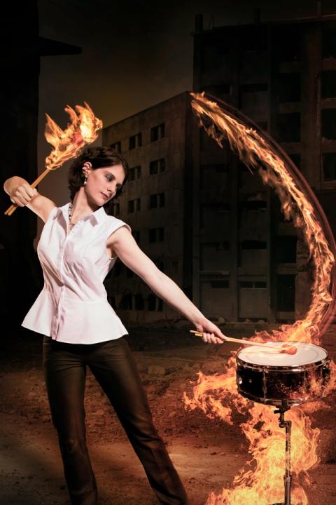 Kaylie Dunstan, percussionist